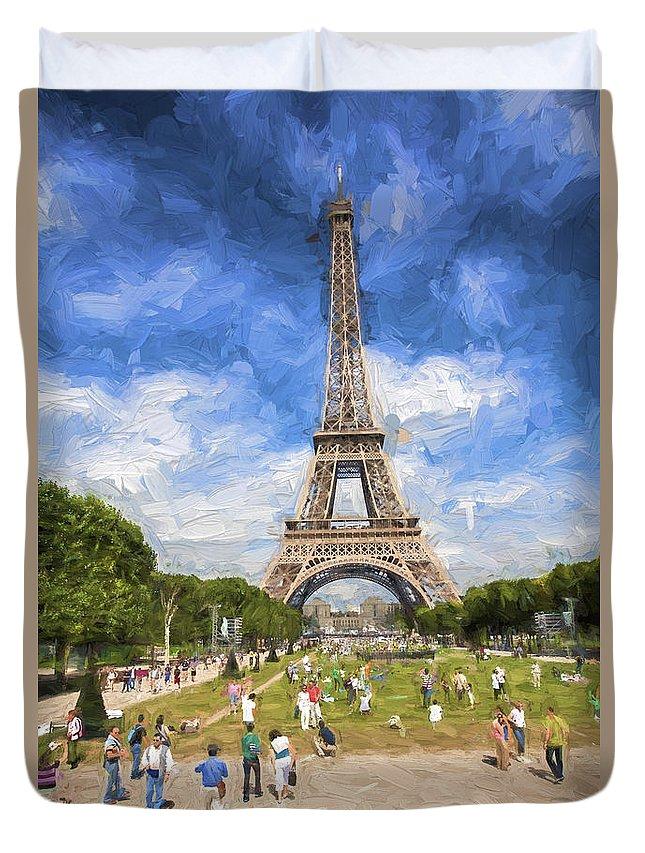 Eiffel Tower Duvet Cover featuring the photograph Paris by Sheila Smart Fine Art Photography
