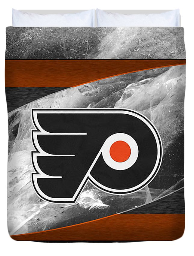 Flyers Duvet Cover featuring the photograph Philadelphia Flyers by Joe Hamilton