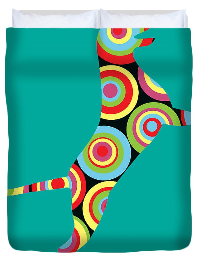 Kids Duvet Cover featuring the digital art Pointer by Mark Ashkenazi