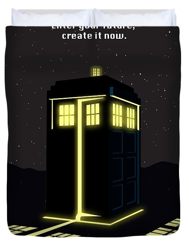 Dr Who Duvet Cover featuring the painting Print by Sassan Filsoof