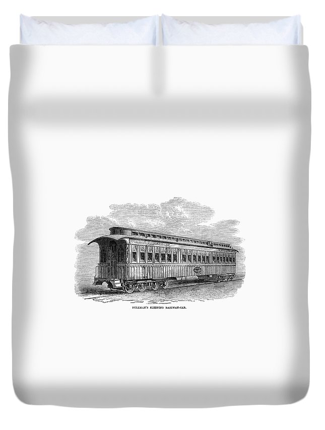 1869 Duvet Cover featuring the painting Pullman Car, 1869 by Granger