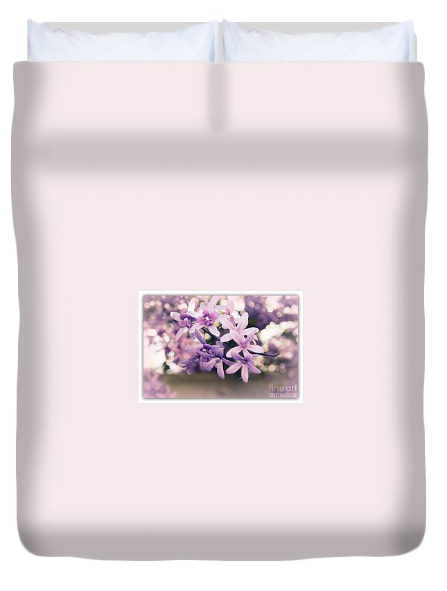 Flower Duvet Cover featuring the photograph Purple Delight by Irina Davis