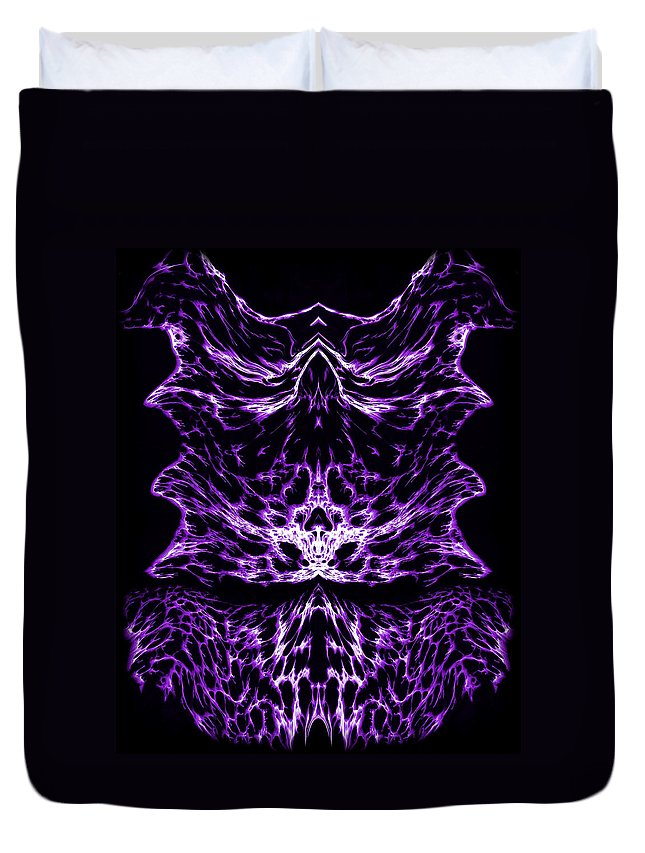 Original Duvet Cover featuring the painting Purple Series 6 by J D Owen