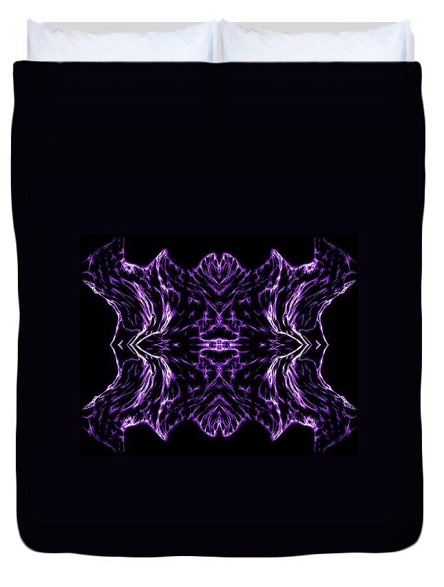 Original Duvet Cover featuring the painting Purple Series 7 by J D Owen