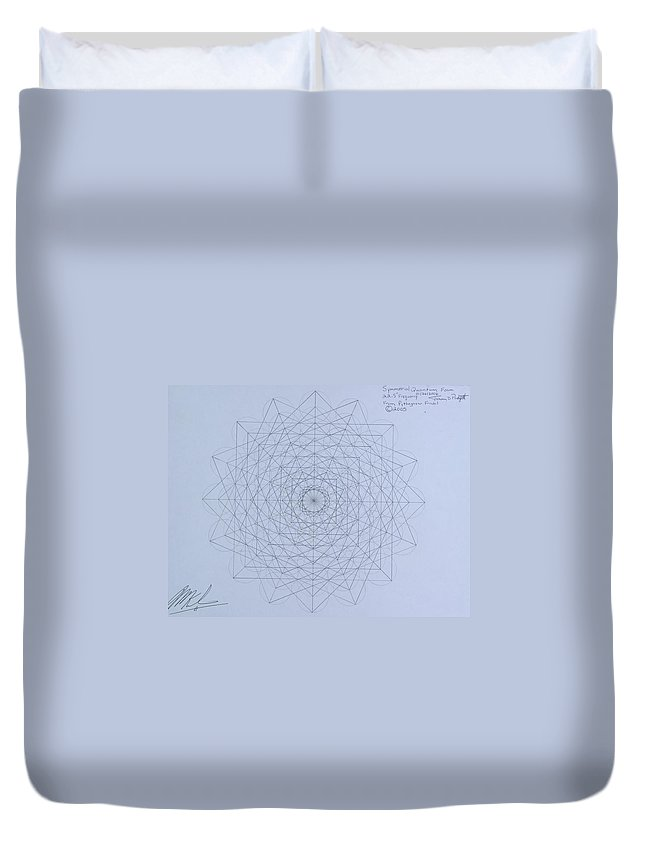 Jason Duvet Cover featuring the drawing Quantum Foam by Jason Padgett