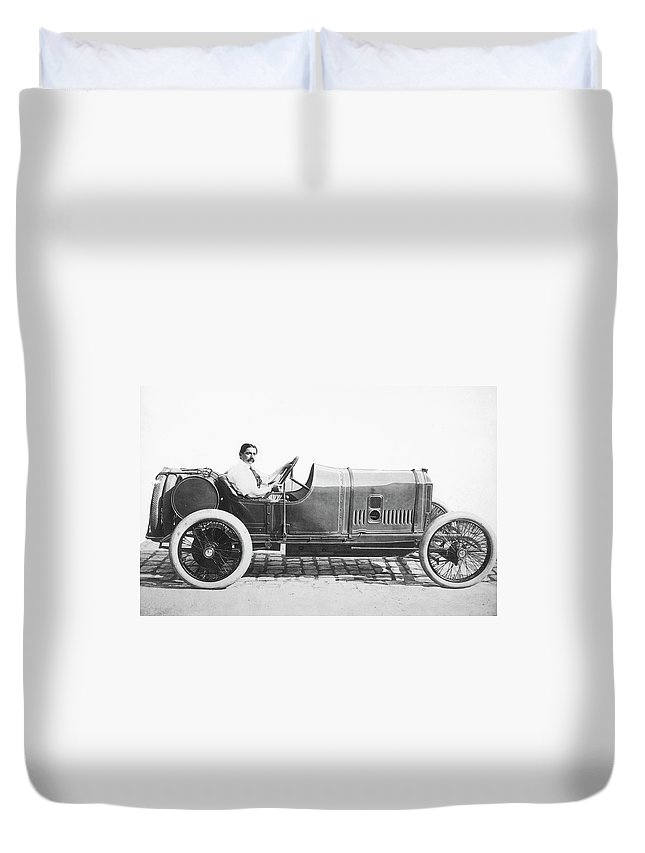1914 Duvet Cover featuring the photograph Race Car, 1914 by Granger