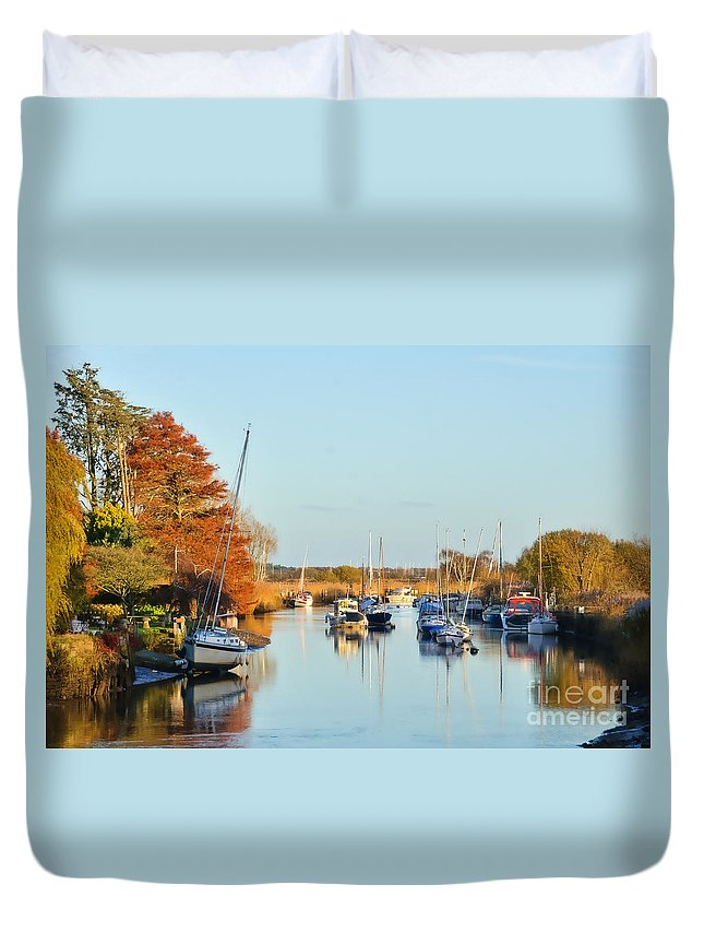 Wareham Duvet Cover featuring the photograph River Frome At Wareham by Susie Peek