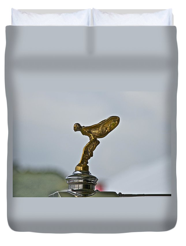 Glenmoor Duvet Cover featuring the photograph Rolls Royce by Jack R Perry