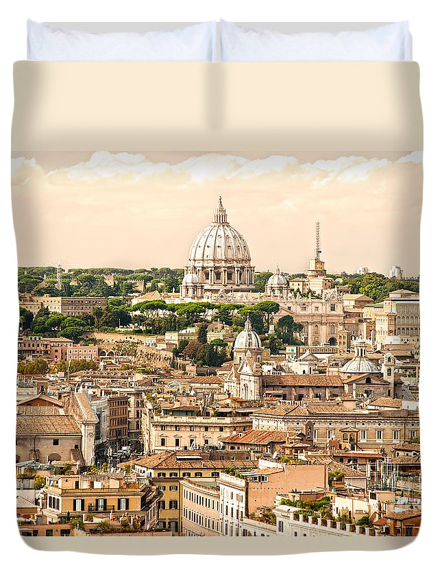 Pope Duvet Cover featuring the photograph Rome - Italy by Luciano Mortula