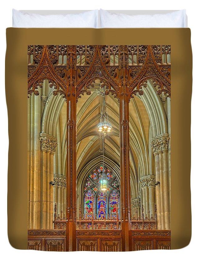 Saint Patricks Cathedral.church Duvet Cover featuring the photograph Saint Patricks Cathedral by Dave Mills