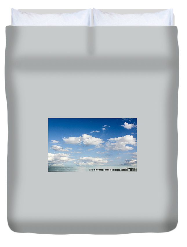 Sea Duvet Cover featuring the photograph Sea by Heike Hultsch