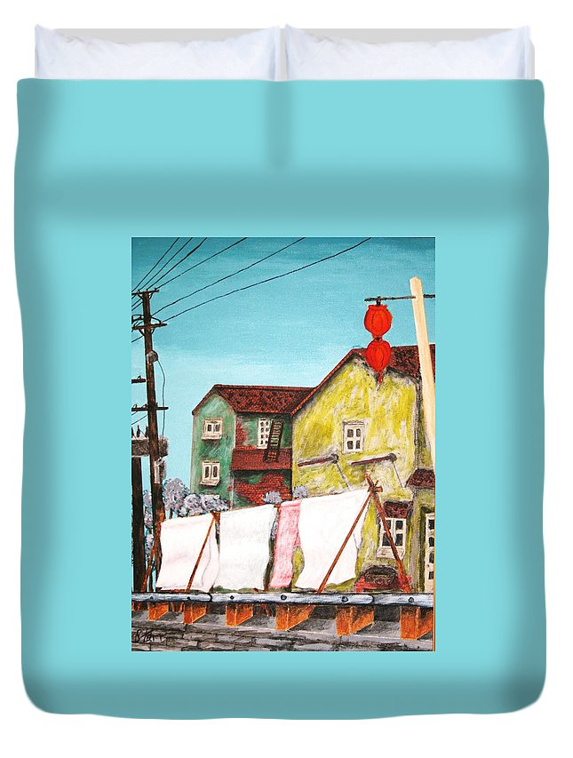 China Duvet Cover featuring the painting Sheets by Irving Starr