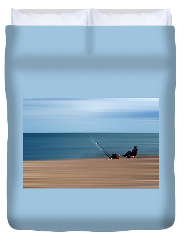 Start Bay Duvet Cover featuring the photograph Slapton Sands by Chris Day