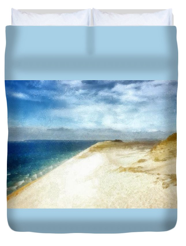Sleeping Bear Dunes Duvet Cover featuring the photograph Sleeping Bear Dunes National Lakeshore by Michelle Calkins