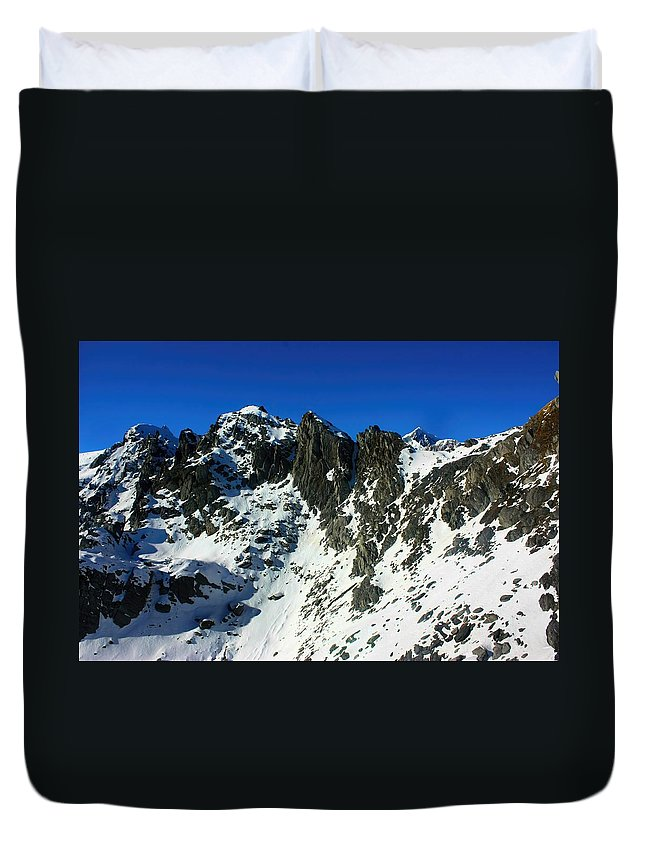 New Zealand Duvet Cover featuring the photograph Southern Alps New Zealand by Amanda Stadther