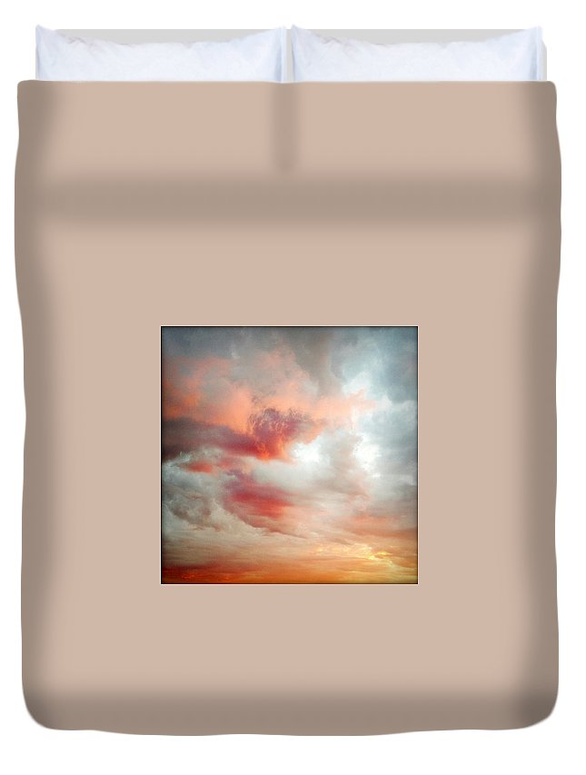 Abstract Duvet Cover featuring the photograph Sunset Sky by Les Cunliffe