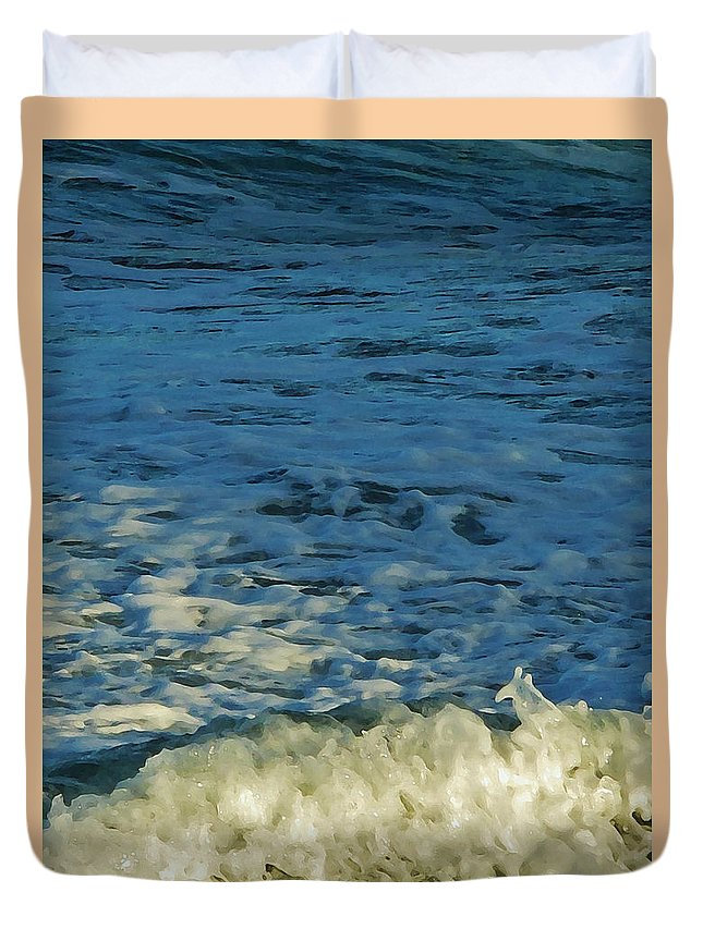 Ocean Duvet Cover featuring the photograph Swirl by Ian MacDonald