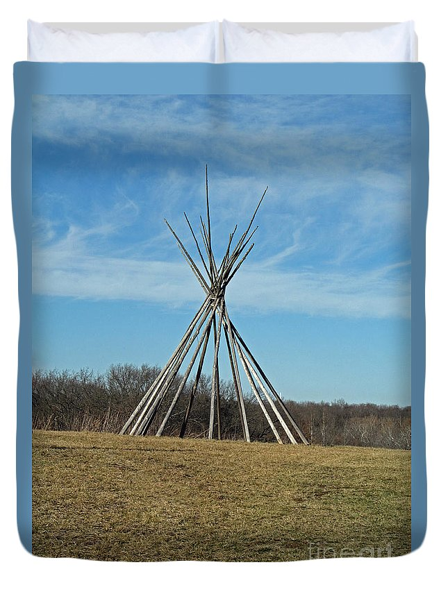 Indian Duvet Cover featuring the photograph Tee Pee by Jamie Smith