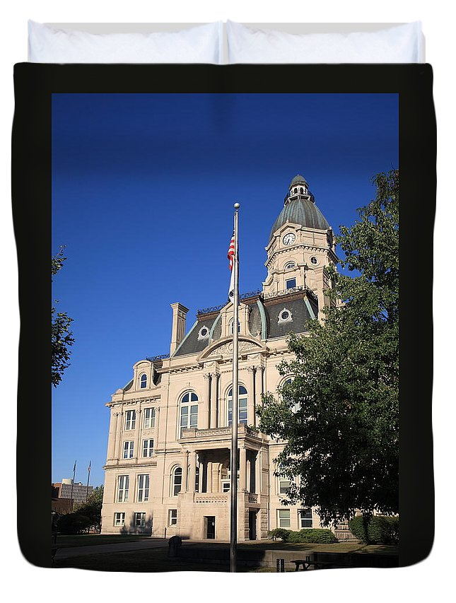 America Duvet Cover featuring the photograph Terre Haute Indiana - Courthouse by Frank Romeo
