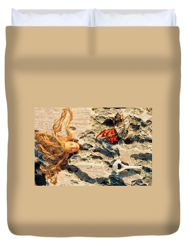 Antennae Duvet Cover featuring the photograph The Beauty And The Beast by Stephan Pietzko