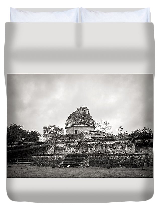 Chichen Itze Duvet Cover featuring the photograph The Castillo In Chichen Itza by For Ninety One Days
