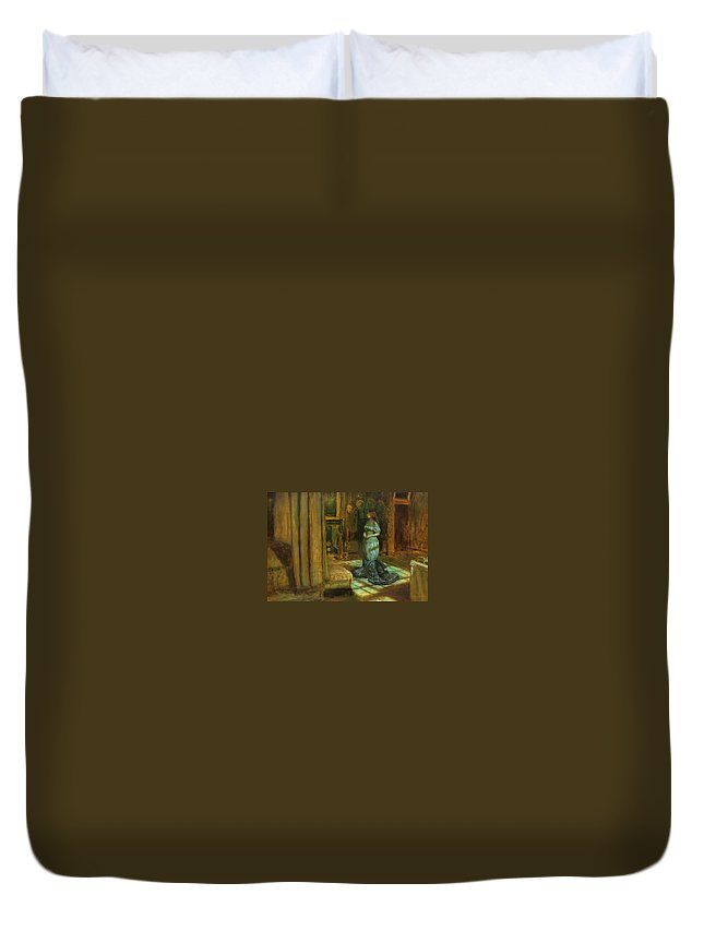 John Duvet Cover featuring the painting The Eve Of St Agnes by Philip Ralley