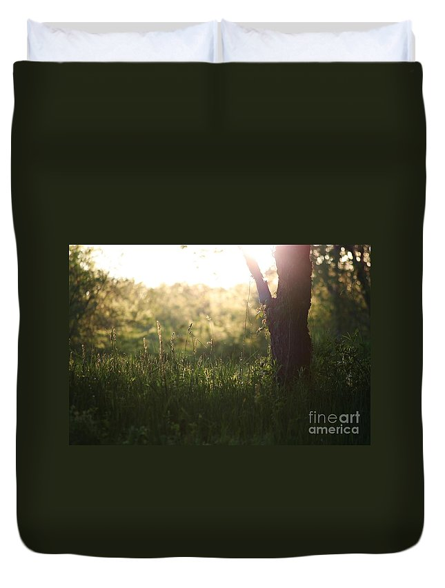 Meadow Duvet Cover featuring the photograph The Field by Neal Eslinger