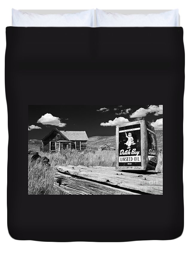 Henk Meijer Duvet Cover featuring the photograph The Last Frontier - Bodie - California by Henk Meijer Photography
