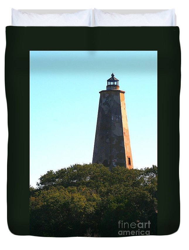 Lighthouse Duvet Cover featuring the photograph The Lighthouse by Nadine Rippelmeyer