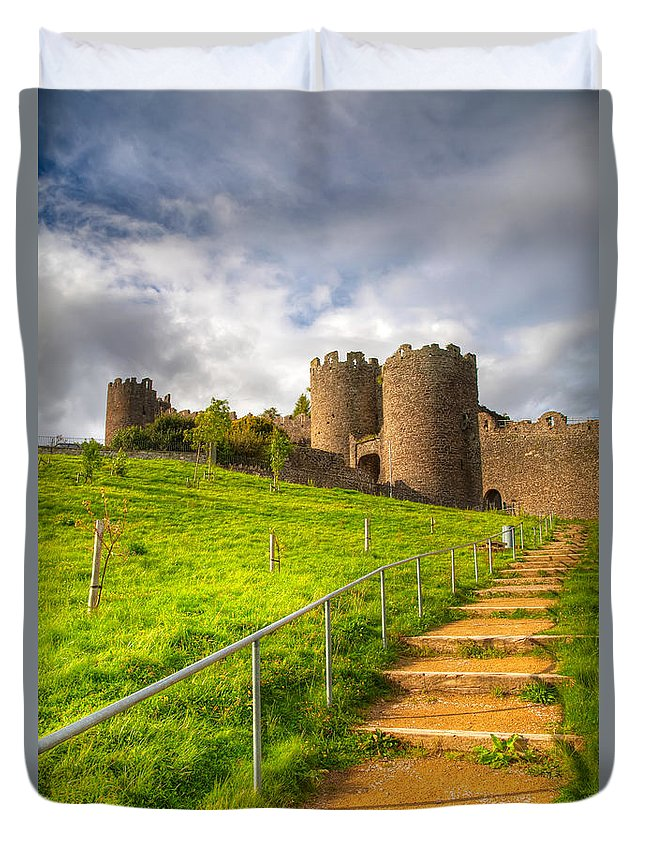 Hdr Duvet Cover featuring the photograph The Path Leadeth Me Home by Adrian Evans