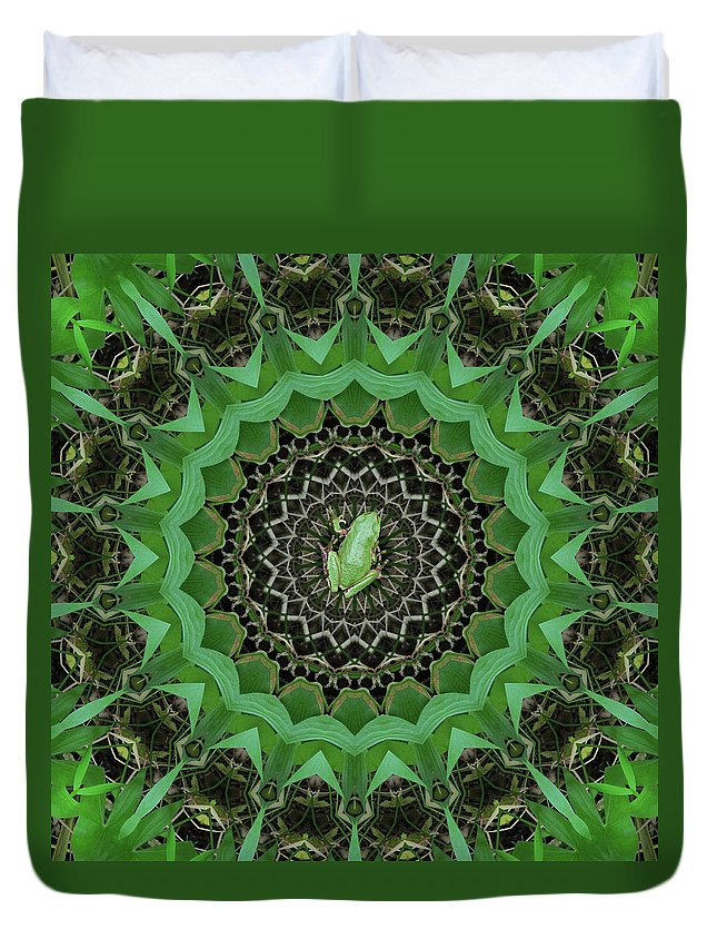 Green Duvet Cover featuring the photograph The Rains Have Come by I'ina Van Lawick