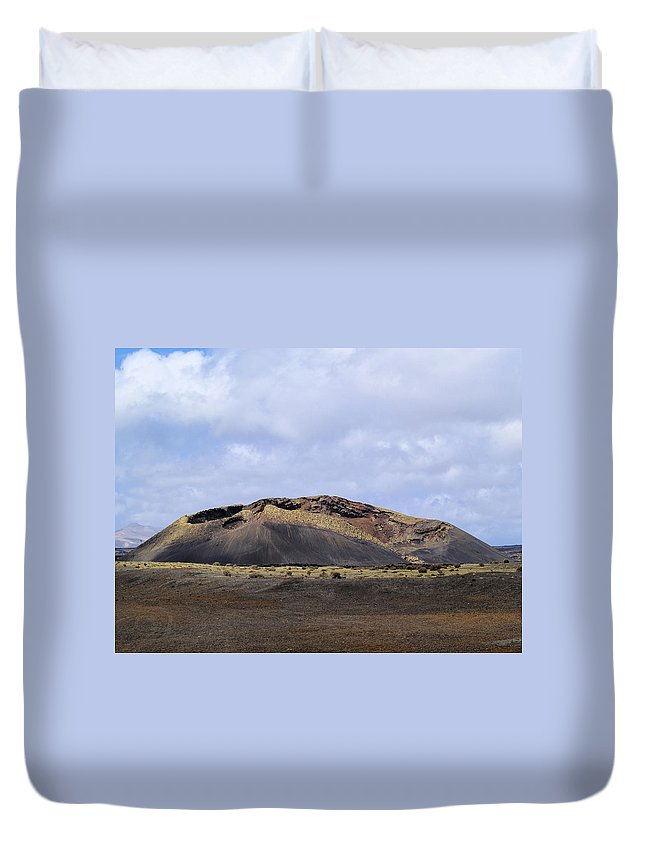 Lanzarote Duvet Cover featuring the photograph Timanfaya National Park by Karol Kozlowski