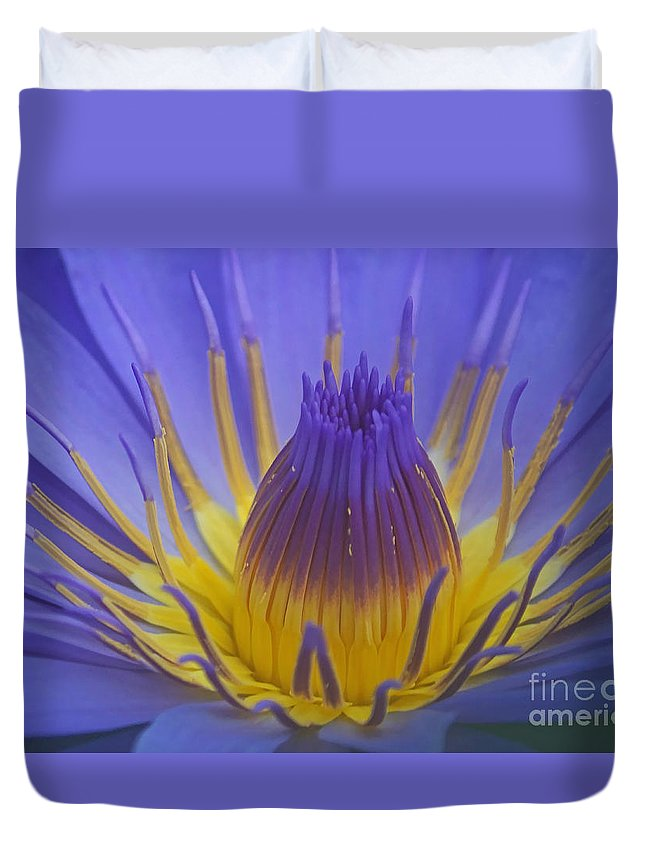 Plant Duvet Cover featuring the photograph Tropic Water Lily 16 by Rudi Prott