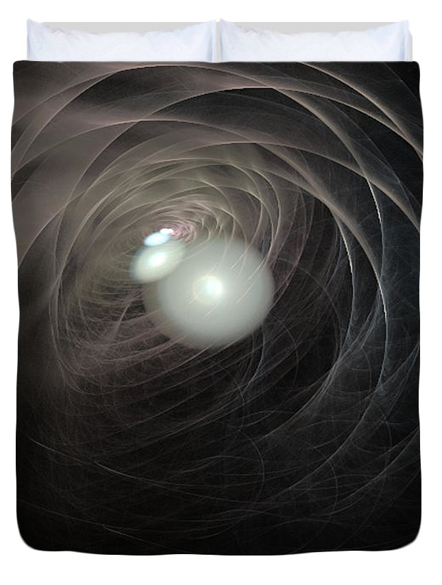 2-dimensional Duvet Cover featuring the digital art Tunnel Vision by Dana Haynes