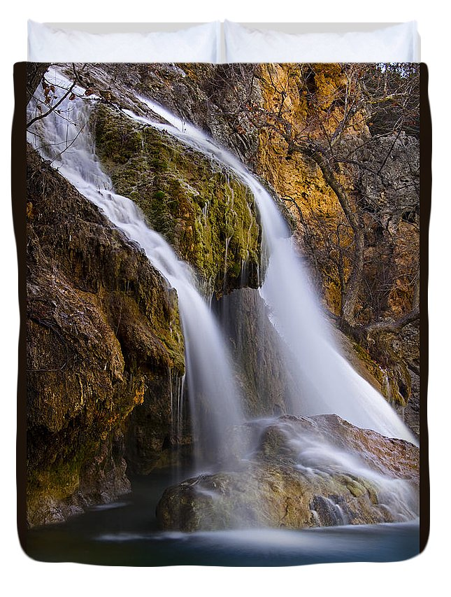 Nature Duvet Cover featuring the photograph Turner Falls by Ricky Barnard