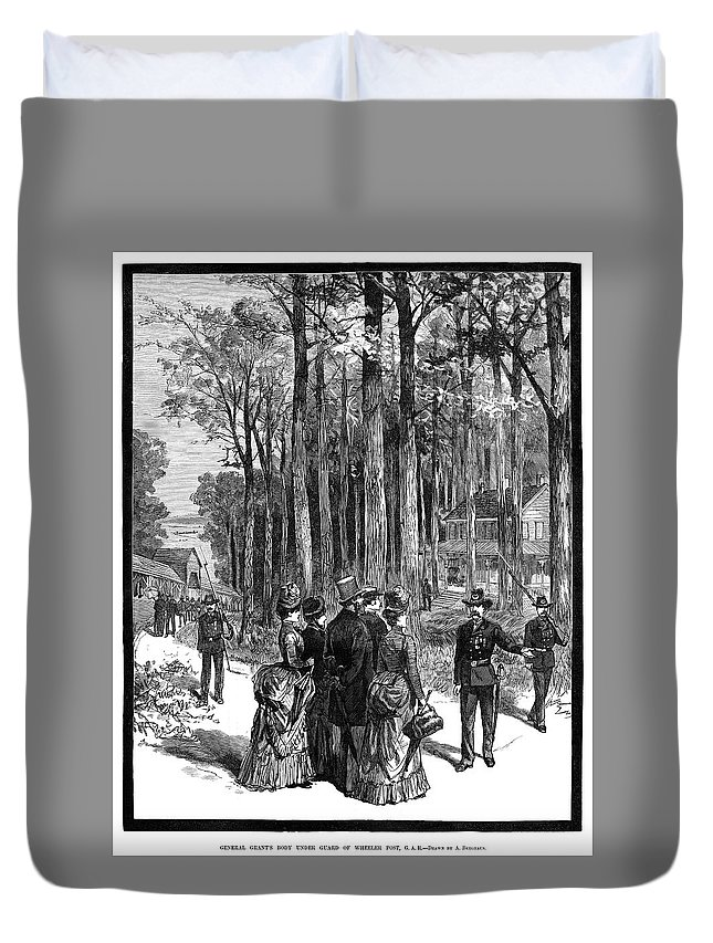 1885 Duvet Cover featuring the painting Ulysses S by Granger