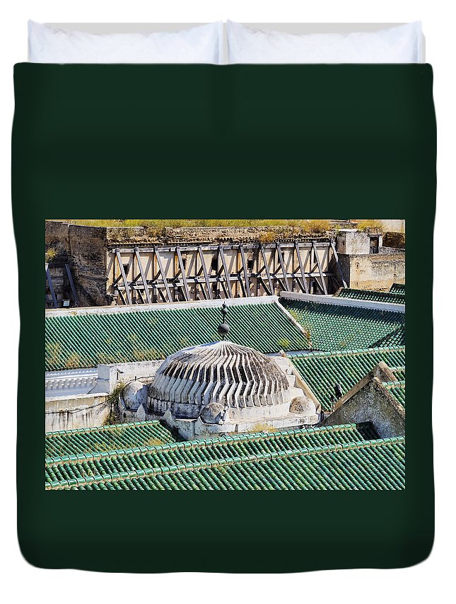 Africa Duvet Cover featuring the photograph University Of Al-karaouine In Fes In Morocco by Karol Kozlowski