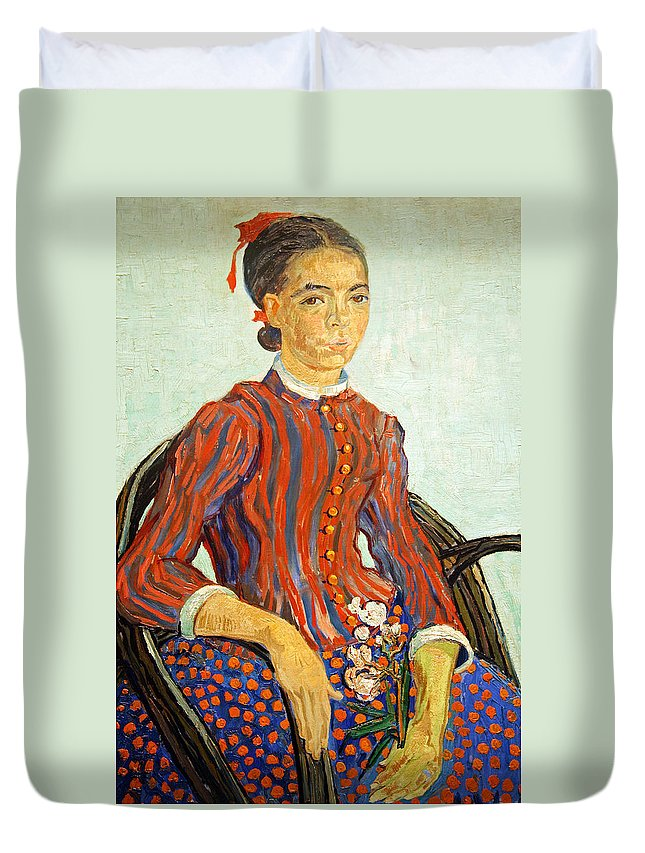 La Duvet Cover featuring the photograph Van Gogh's La Mousme by Cora Wandel