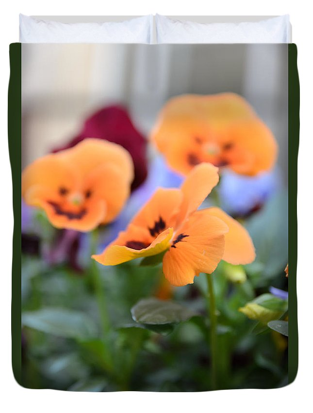 Art Duvet Cover featuring the photograph Viola Tricolor Heartsease by Michael Goyberg