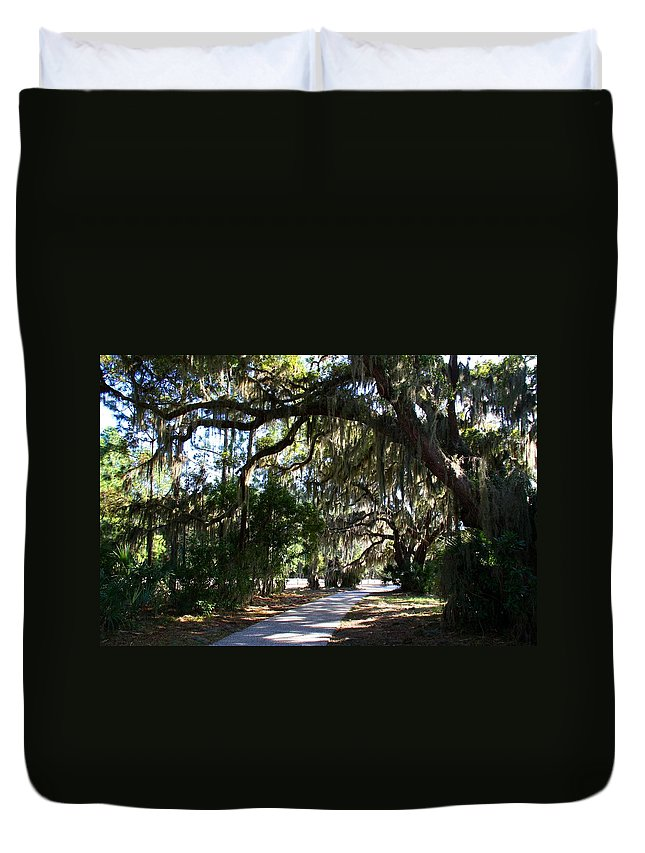 Path Duvet Cover featuring the photograph Walking Path by Kathryn Meyer