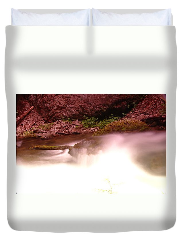 Rivers Duvet Cover featuring the photograph Water Over Rock by Jeff Swan
