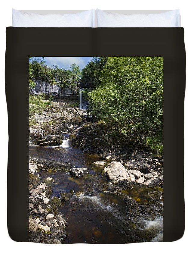 Waterfall Duvet Cover featuring the photograph Waterfall by Chris Smith