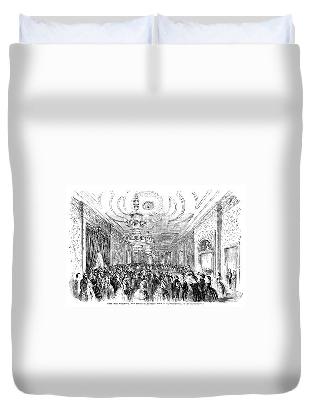 1857 Duvet Cover featuring the painting White House Reception by Granger