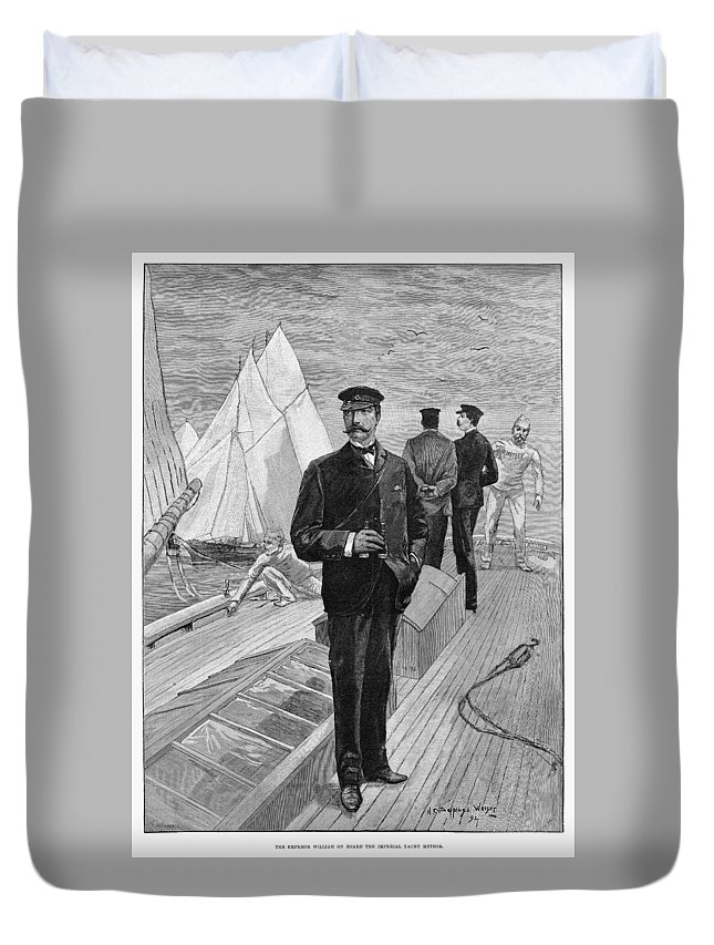 1892 Duvet Cover featuring the drawing William II Of Germany (1859-1941) by Granger