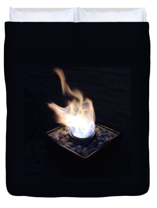 Fire Duvet Cover featuring the photograph Windy Fire by Natasha Anderson