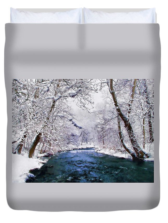 Christmas Duvet Cover featuring the photograph Winter White by Jessica Jenney