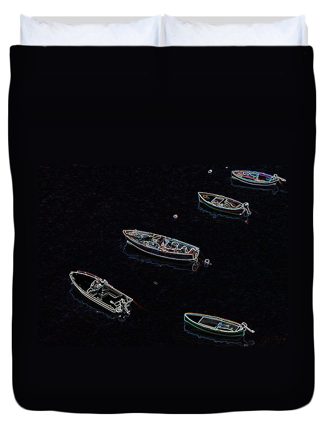 Irish Photography Duvet Cover featuring the photograph Yachts At Rest Sorrento by Dave Byrne