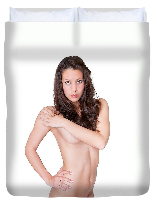 Woman Duvet Cover featuring the photograph Erotic Nude by Jochen Schoenfeld