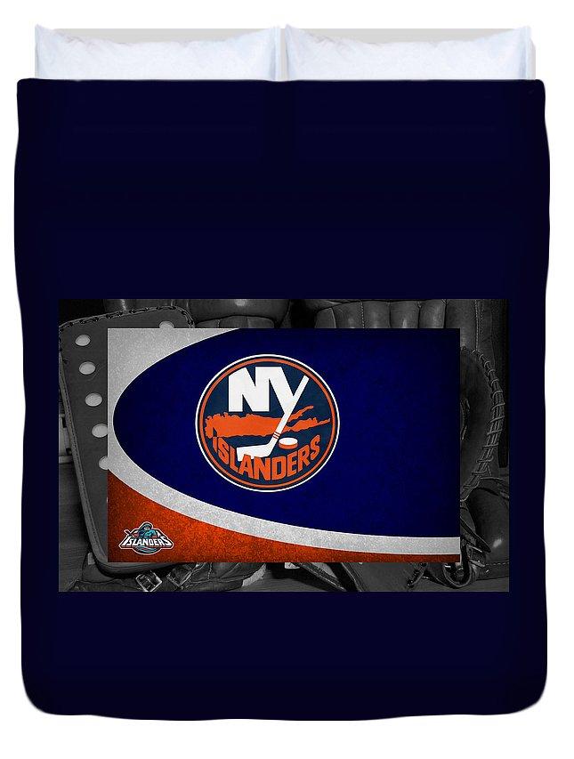 Islanders Duvet Cover featuring the photograph New York Islanders by Joe Hamilton