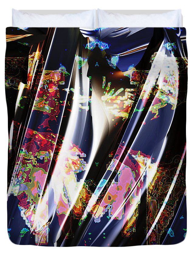 Abstract Duvet Cover featuring the digital art 2009 9 25 by Bill Ellsworth